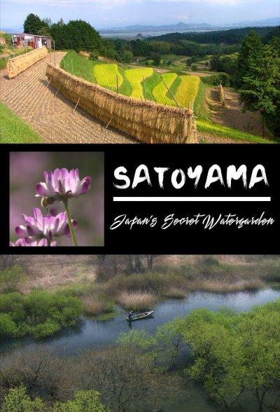 自然世界裏山日本神秘水上花園海報